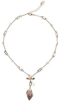 MANGO Seashell chain necklace