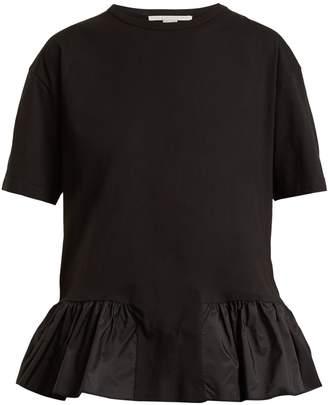 Stella McCartney Ruffled-hem cotton T-shirt