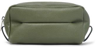 Valextra Small Pebble-Grain Leather Wash Bag