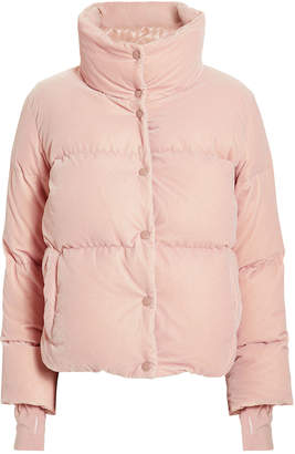 SAM. Sophia Pink Velvet Puffer Jacket