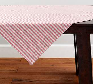 Pottery Barn Elia Floral/Striped Reversible Table Throw