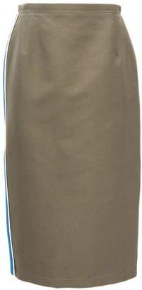 N°21 Military Green Cotton Skirt