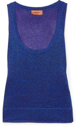 Missoni Metallic Knitted Tank - Blue