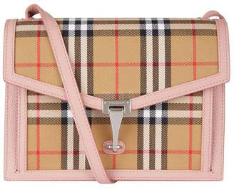 Burberry Small Leather and Vintage Check Cross Body Bag 3cb2c508a54a6