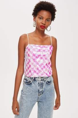 Topshop PETITE Sequin Embellished Camisole Top