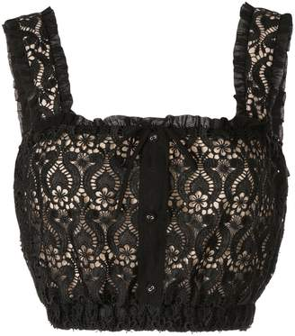 We Are Kindred Romily lace cropped top