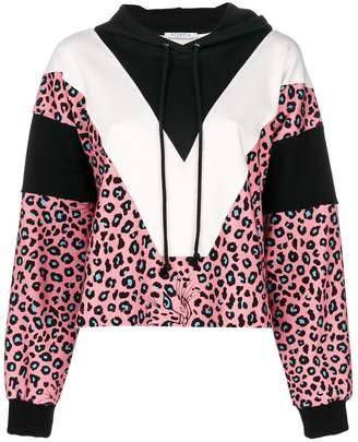 Vivetta leopard print panelled hoodie