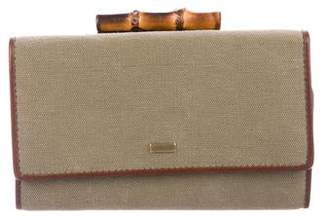 Gucci Bamboo French Purse Wallet