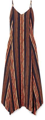 Vix Isabela Deana Striped Voile Maxi Dress - Orange