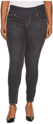 Jag Jeans Plus Size Nora Pull-On Jackie Skinny Comfort Denim in Thunder Grey Women's Jeans