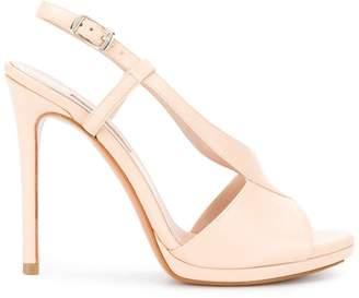 Albano cross strap stiletto sandals