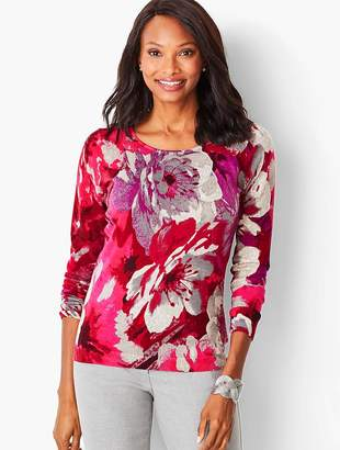 Talbots Perfect Merino Sweater - Floral Print