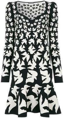 Alexander McQueen swallow jacquard dress
