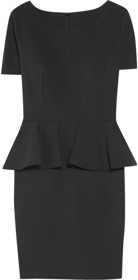 Stella McCartney Cotton-blend peplum dress
