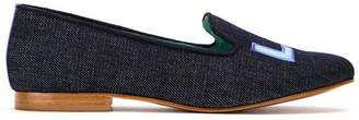 Blue Bird Shoes leather and cotton Eletric Love denim loafers