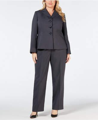 Le Suit Plus Size Notch-Collar Pantsuit