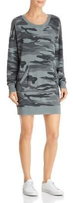 Splendid Courtside Camo Sweatshirt Dress