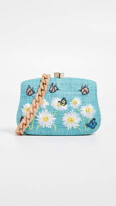 Serpui Marie Blair Daisy Embroidered Minaudiere