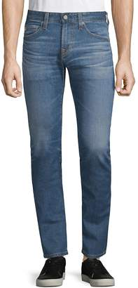 AG Adriano Goldschmied Men's Matchbox Slim Straight Distressed Jeans