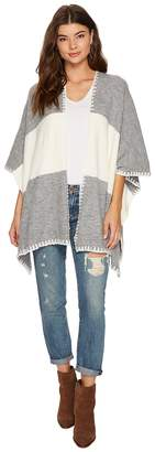 Bishop + Young Two-Tone Shawl Women's Sweater