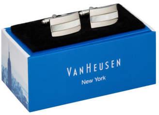 Van Heusen NEW Mother Of Pearl Cufflinks Silver