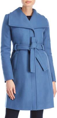 Diane von Furstenberg Wide Collar Belted Coat