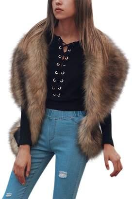 iBaste Faux Fur Scarf Wrap Shoulder Neck Warmer Winter Collar Shawl Shrug
