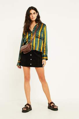 Urban Outfitters Jonie Black Suede Mini Skirt