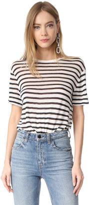 T by Alexander Wang Stripe Cropped Tee $110 thestylecure.com
