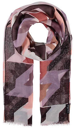 Fraas Abstract Houndstooth Scarf