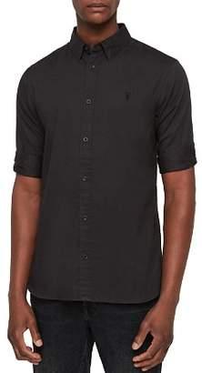 AllSaints Redondo Half-Sleeve Slim Fit Button-Down Shirt