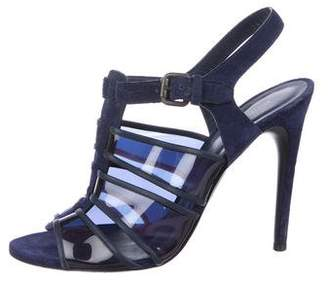 Bottega Veneta Suede Cage Sandals