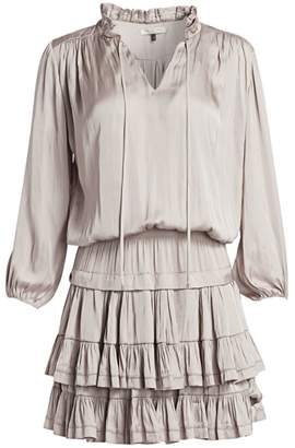 Halston Ruffle Mini Dress