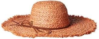 La Fiorentina Women's Raffia Brim Hat with Tie