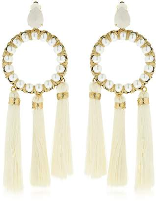 Vanina The Maxi Alma Tassel Hoop Earrings