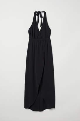 H&M Long Halterneck Dress - Black
