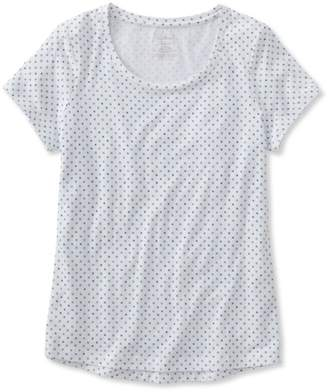 L.L. Bean L.L.Bean Super-Soft Shrink-Free Tee, Short-Sleeve Crewneck Dot