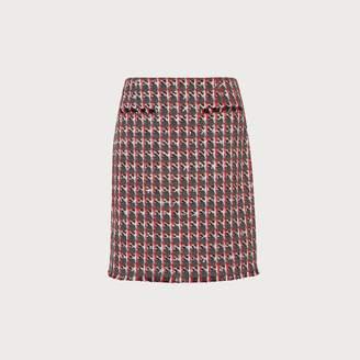 LK Bennett Danna Red Tweed Skirt