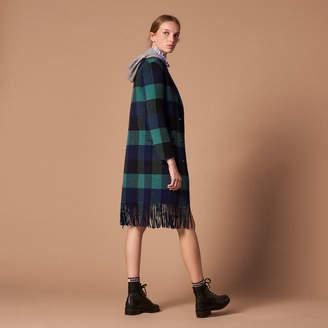 Sandro Wool coat with fringe hem