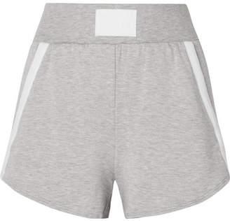 Heroine Sport - Boost Grosgrain-trimmed Stretch-modal Shorts - Gray