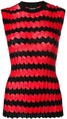 Calvin Klein zig-zag stripe knit top