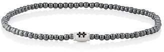 Luis Morais Men's Hematite Beaded Bracelet