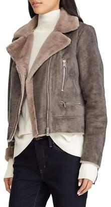 Lauren Ralph Lauren Faux Shearling Moto Jacket