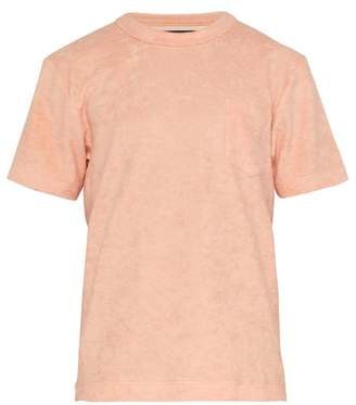 Howlin' - Fons Terry Towelling Cotton Blend T Shirt - Mens - Orange