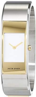Jacob Jensen Strata Women's Quartz Watch with Black Dial Analogue Display Quartz Stainless Steel 32452