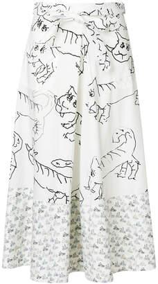 drawing print skirt