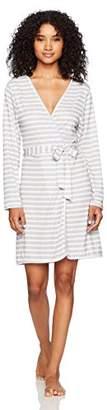 Selene Women's Knit Long-Sleeve Wrap Robe