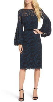 Women's Maggy London Lace Bishop Sleeve Dress $198 thestylecure.com