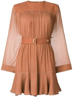 Chloé belted draped dress
