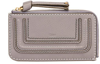 Chloé Medium Marcie Wallet with Slot Cards in Cashmere Grey | FWRD